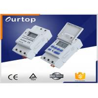 Buy cheap White Color Programmable Digital Timer Switch , Weekly Program Timer Switch from wholesalers