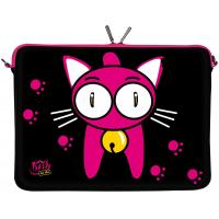 Wholesale 11.6 Inch Chloroprene Rubber Laptop Sleeve with Zipper , Fancy Kitty to Go Designer from china suppliers