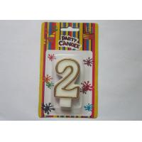 Buy cheap OEM Fancy Number 2 Birthday Cake Candle / Anniversary Party Wax Candles from wholesalers