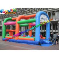 Wholesale 18OZ  Adult Inflatable Wipeout Sport Game , Wipe Out Obstacle Coure For Outdoor from china suppliers