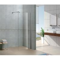 Buy cheap Installed Easily Walk In Glass Shower Enclosures 8 MM Tempered Glass with Chromed Profile from wholesalers