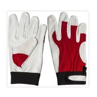 Buy cheap Elastic Cotton Back Sheep Leather Gloves from wholesalers