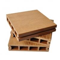 Buy cheap Eco - Friendly Brown Hollow Composite Decking With Smooth Surface Treatment from wholesalers