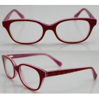 Buy cheap Red Spectacles Glasses Frames , Vintage Acetate Kids Eyewear Frames from wholesalers