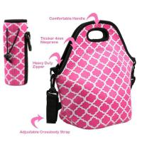 Wholesale Cheap wholesale OEM customize size fashion neoprene insulated lunch bag with water bottle sleeve.Size:30cm*30cm*16cm from china suppliers