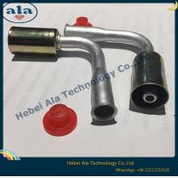 Buy cheap #6 #8 #10 #12Quick joint with Iron jacket Auto air conditioning fitting 90 Degree ac hose fitting hose end connecto from wholesalers
