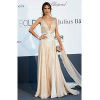 Buy cheap Champagne V-Neck Sleeveless A Line Celebrities Evening Dresses , Zuhair Murad Gowns from wholesalers