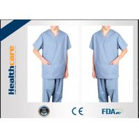 Buy cheap Anti Dust Disposable Scrub Suits SMS/PP Short Sleeve GarmentsBreathable Comfortable from wholesalers