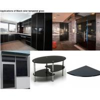 Buy cheap Dark Grey Color Tempered Glass Panels For Glass Cutting Board / Shelves from wholesalers