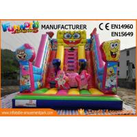 Wholesale Amusement Park Giant Inflatable Water Slide For Adult / Pvc Spongebob Slide from china suppliers