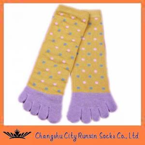 China Womens Ankle Yellow Fashion Cozy Soft Five Toe Socks on sale