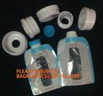 Buy cheap ziplock reusable drink pouch with spout bath tea bag zipper valve flat bottom pouches milk tea powder packaging bag from wholesalers