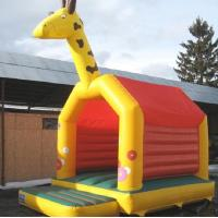 Buy cheap Commercial Jump Bouncy Castle Giraffe A Frame EN14960 0.55MM PVC from wholesalers
