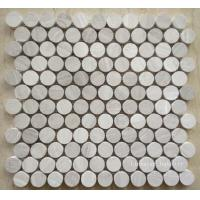Buy cheap Natural Round Wooden Stone Art Mosaic Tiles from wholesalers