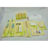 Business Travel Kit Yellow Color , Hotel Amenity Kits With Printing Logo