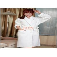 Buy cheap Female White Velvet Bathrobes Spa Robe Night-robe Embroidery logo from wholesalers