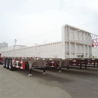 Buy cheap CIMC 40Ton Tri Axle Sideboard Dropside Truck Flatbed Trailers from wholesalers