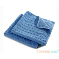 Buy cheap Wide Vertical Stripes Microfiber Cloth Streak Free, Durable, Scratch-Free, Super Absorbent from wholesalers