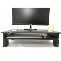 Wholesale PVC Laminated Computer Monitor Stand Adjustable Heights With Storage Shelf from china suppliers