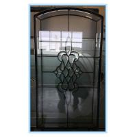 Buy cheap Decorative textured glass panels for wood doors from wholesalers