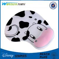 Buy cheap Milk Cow Comfortable Wrist Rest Mouse Pad Cute Memory Foam Mouse Mat 22mm Thick from wholesalers