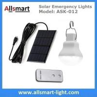 Buy cheap 240lm Portable Solar Emergency Lights Rechargeable Solar Camping Lights with Hook DC Solar LED Bulb Solar Indoor Lights from wholesalers