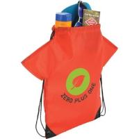 Buy cheap T-Shirt Style Custom Drawstring Backpack - 13w x 16h from wholesalers