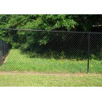 Buy cheap Black Chain Link Fence Mesh PVC Coated  , Public Grounds Chain Mesh Fencing from wholesalers