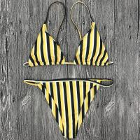 Buy cheap Wholesale and Retail 2018 Women Sexy Striped Triangle Brazilian Bikini Set from wholesalers