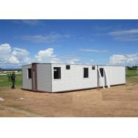 Buy cheap Sandwich Panel White Foldable Emergency Shelter / Steel Frame Foldable House from wholesalers