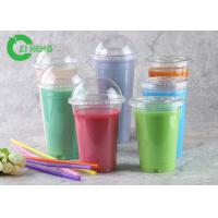 Buy cheap Crystal Versatile Plastic Coffee Cups , 20 Oz Freezer Safe Plastic Smoothie Cups from wholesalers