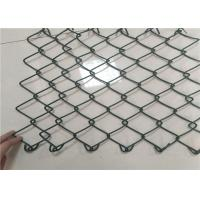 Buy cheap 25x25 Mm 9 Gauge Chain Link Fence , Plastic Coated Wire Mesh For Sport Field from wholesalers