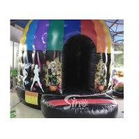 Buy cheap Kids N adults inflatable music disco dome bouncy castle with light hooks on top for outdoor N indoor parties from wholesalers