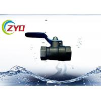Buy cheap F1 4 Brass Plumbing Valves Mini Size PN16 Max Pressure Fluid Resistance from wholesalers