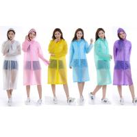 Buy cheap CE / ISO9001 Approved Plastic Rain Poncho , Disposable Waterproof Lab Coat from wholesalers