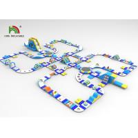 Buy cheap 0.9mm Plato PVC Customized 61x41m Blue Inflatable Floating Water Park With Slide from wholesalers