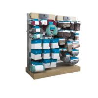 Buy cheap Wood Portable Retail Display Units , Countertop Socks Display Stand With Hook from wholesalers