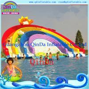 China Guangzhou QinDa Inflatable Slide Inflatable Water Slide. Water Park. Water Pool Slide on sale