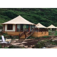 Buy cheap Prefabricated Four Seasons Tent House Hexagon Island Lux Resort Tents For 2 People from wholesalers