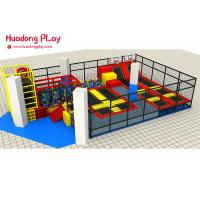 Buy cheap Foam Pit Customized Professional Trampoline Equipment  For 200 Sqm Indoor Amusement Playground from wholesalers