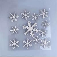Buy cheap Kids DIY Christmas Party Crafts Ultrasonic Embossing SnowFlakes Applique Crafts from wholesalers