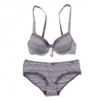 China lds knitted padded bra with brief on sale