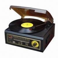 Buy cheap Wooden Retro 5-in-1 Turntable Player, AM/FM Radio CD/Cassette/USB Player from wholesalers