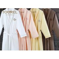 Buy cheap White Flannel Cotton Hotel Quality Bathrobes Colorful Luxury Spa Robes from wholesalers
