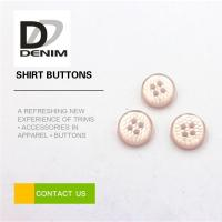 Buy cheap Pink Pearl Unique Shirt Buttons 4 Holes High Temperature Resistance from wholesalers