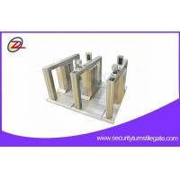 Luxurious Exhibition Flap Barrier Gate Pedestrian Security Stainless Steel Turnstiles Manufactures