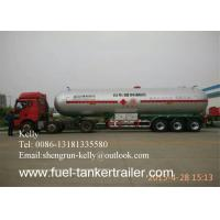 Buy cheap Custom 3 Axle CNG LPG LNG tanker trailer with air spring suspension from wholesalers
