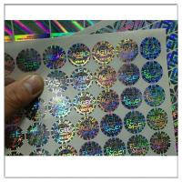 Buy cheap Self Adhesive 3d Holographic Hologram Stickes Labels,Customized holographic label sticker anti counterfeit label from wholesalers
