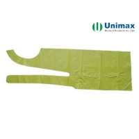 Buy cheap Green Polyethylene LDPE Disposable Plastic Aprons 65g from wholesalers