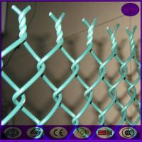 Buy cheap China chain link fencing 50*50mm ,6 gauge plastic coating sports ground fence price from wholesalers